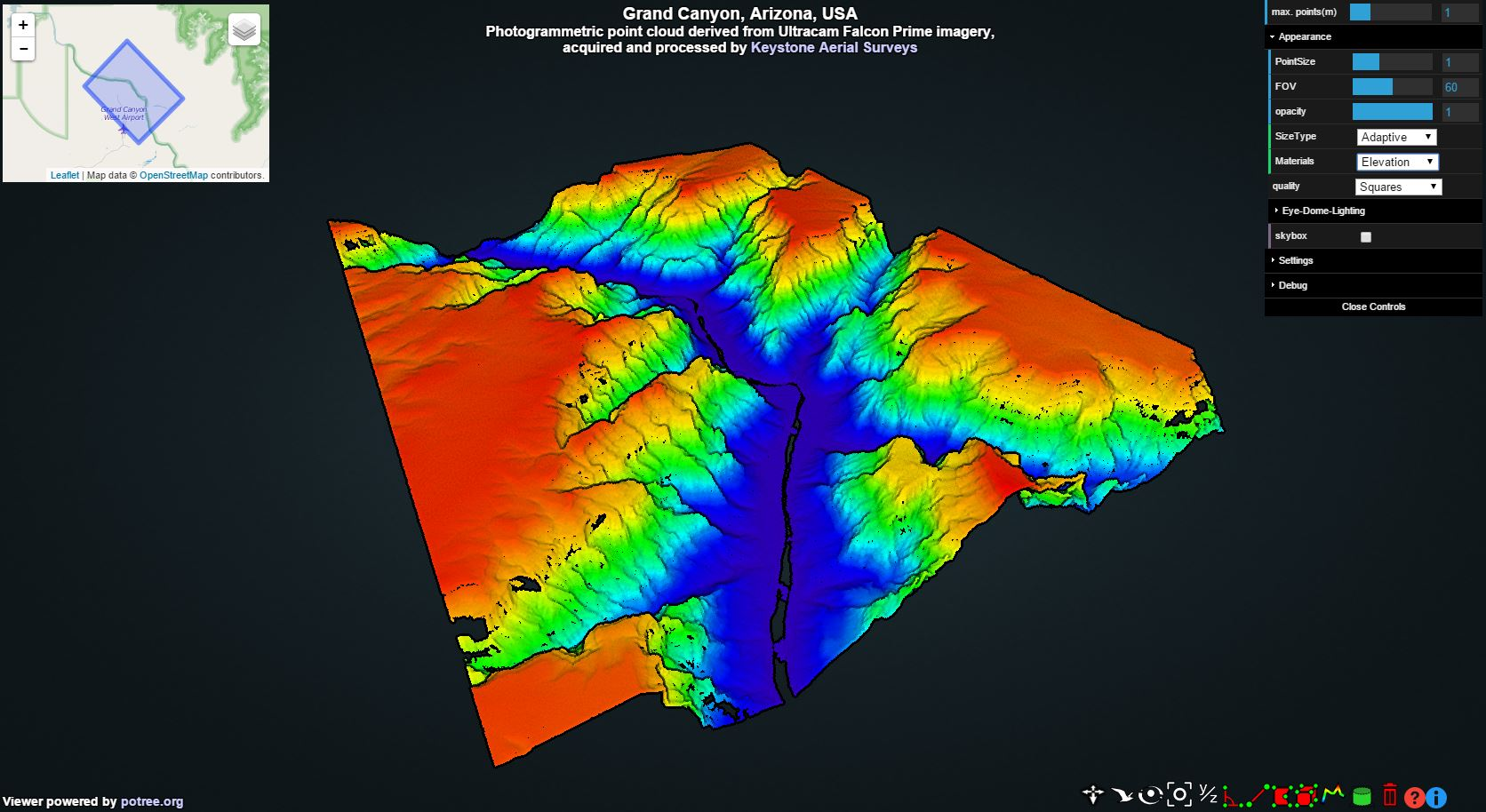 3D Visualization of the Grand Canyon with Potree | wesmapping com/blog